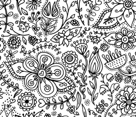 coloring page wallpaper decor  kids spoonflower
