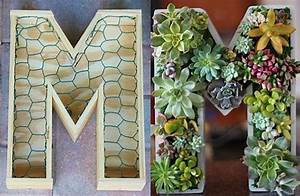 diy unfinished monogrammed initial succulent planter With monogram letter planter