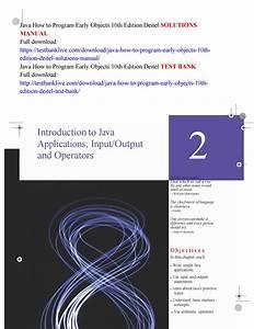 Java Programming Manual Free Download