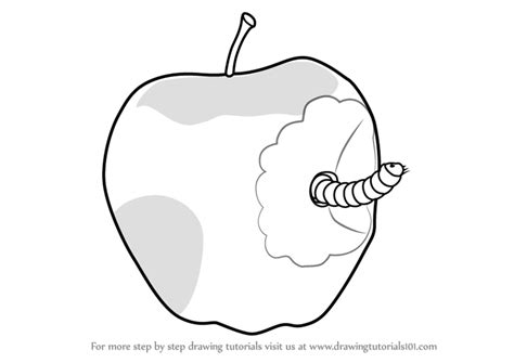Draw Apple Easy Worm