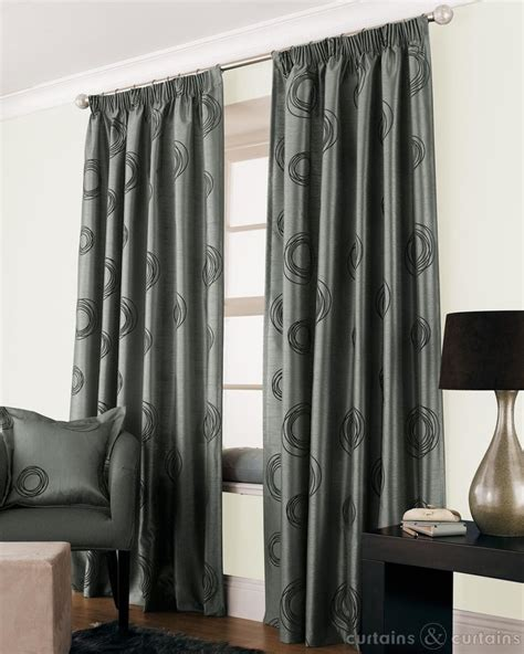 Black And Grey Curtains by Silver Grey Black Faux Silk Lined Cheap Curtain Cheap