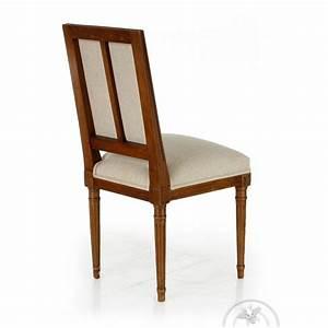 Chaise Tissu Beige : chaise louis xvi tissu beige trianon saulaie ~ Teatrodelosmanantiales.com Idées de Décoration