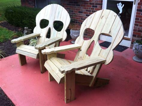 skull chair adirondack woodworking