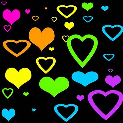 Hearts Background Neon Stars Heart Cool Backgrounds