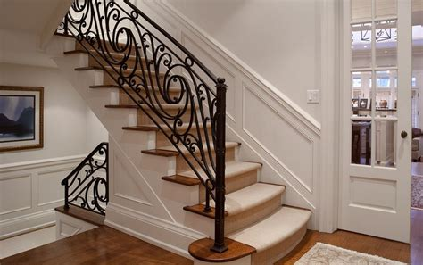 Kitchen Ideas For New Homes - wrought iron stair railing design new home design elegance and subtlety wrought iron stair