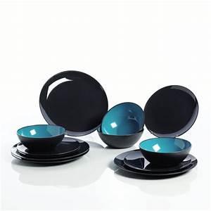 Geschirr Set Türkis : gimex geschirr set t rkis grau 12 teilig ebay ~ Eleganceandgraceweddings.com Haus und Dekorationen