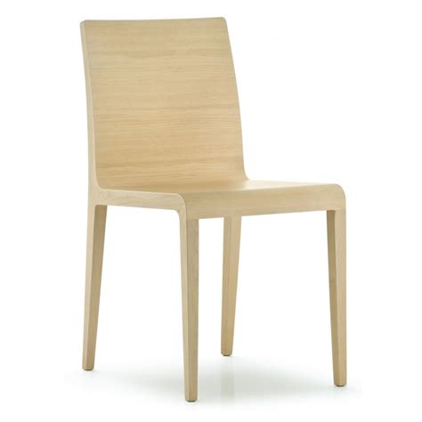 pedrali collection light wood side chair 420