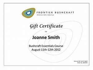 Frontier Bushcraft Gift Vouchers & Bushcraft Course Gift ...