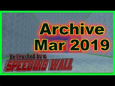 crushed   speeding wall codes  march