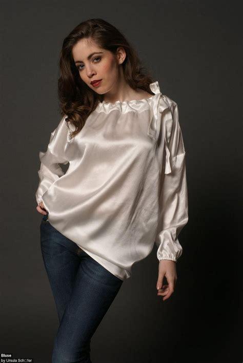 silk white blouse white satin silk plus size blouse plus size satin 1