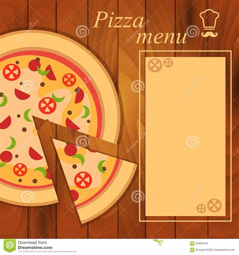 pizza template menu for pizza template stock illustration image 55869440
