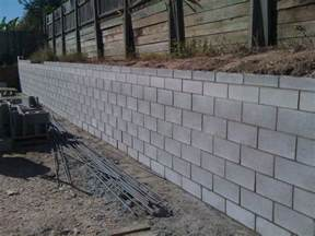 Design Of Basement Retaining Wall by Cinder Block Retaining Wall Design Foundation