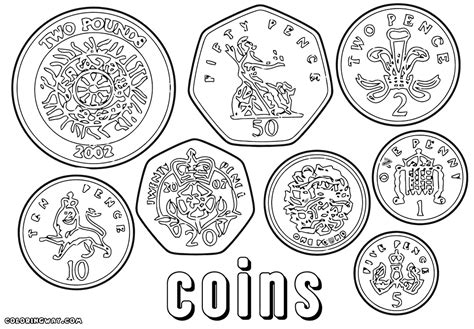blank coin coloring pages coloring pages