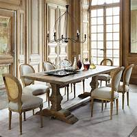 distressed wood dining table Distressed wood dining table W 220cm Lourmarin | Maisons ...