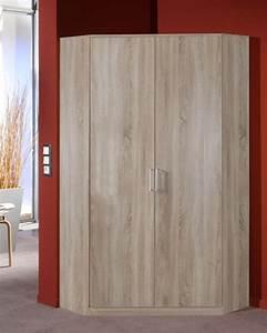 Commode D Angle Chambre : armoire d 39 angle 2 portes oskar chene ~ Teatrodelosmanantiales.com Idées de Décoration