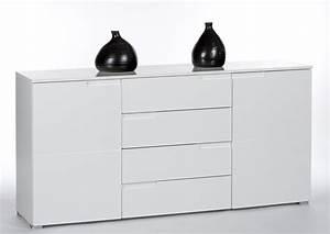 Weiß Hochglanz Sideboard : sideboard weiss hochglanz mit 2 t ren und 4 schubk sten ~ A.2002-acura-tl-radio.info Haus und Dekorationen