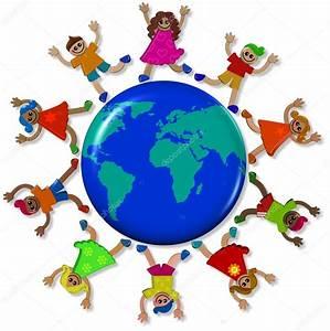 Globe Terrestre Enfant : enfants autour de globe terrestre photographie prawny 65260345 ~ Teatrodelosmanantiales.com Idées de Décoration