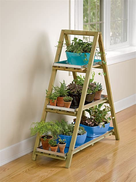 frame plant stand  tray set ladder plant stand
