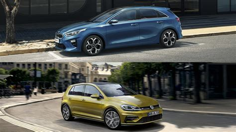 visual comparison  kia ceed   volkswagen golf