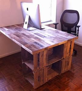Bureau Fabrique A Partir De Caisses A Vin Office Desk