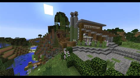 small lake house vacation home minecraft house