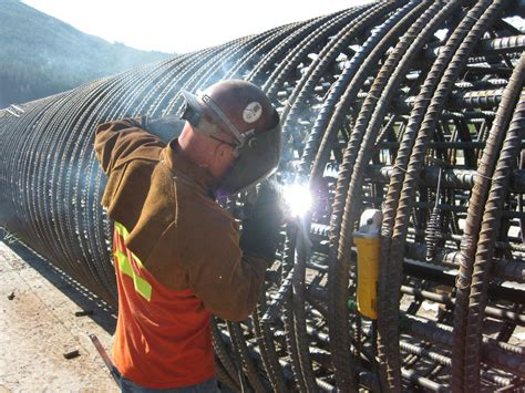 Welding Rebar Cage at Gold Creek