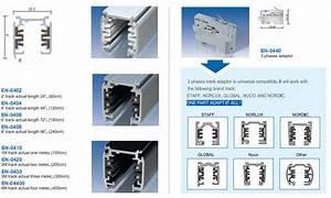 White 4 Wire Rail System Track Aluminum 6063 3 Circuit