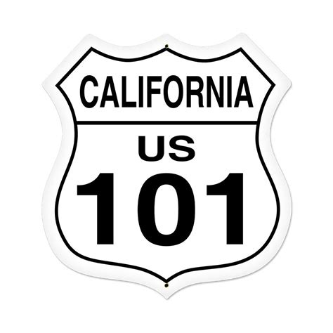 california route  highway shield sign large