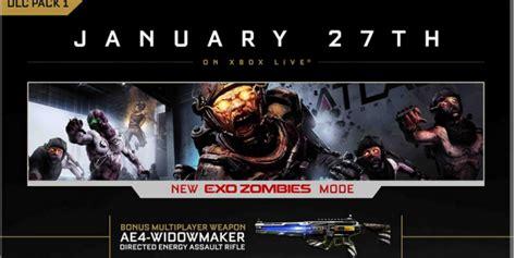 Zombies Advanced Warfare (exo Zombies) Coming January 27th