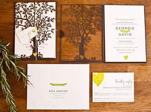 40 unique wedding invitation designs dzineblogcom With laser cut wedding invitations trees