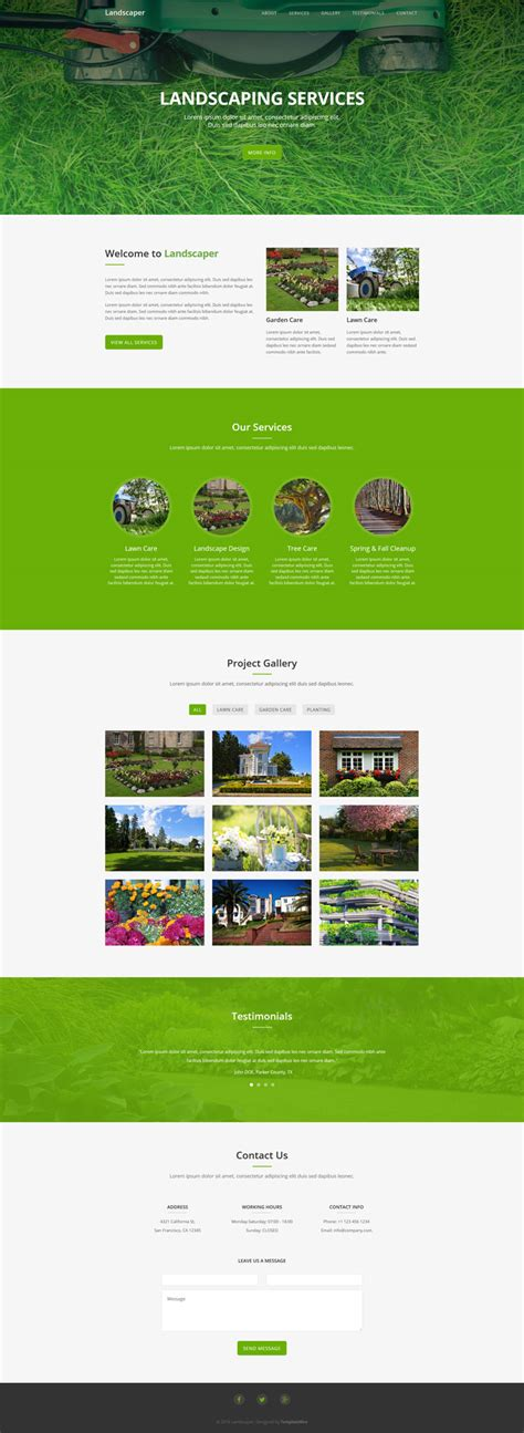 bootstrap template gardening landscaper free landscaping website template bootstrap