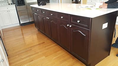 kitchen cabinet finish repair peters wood refinishing services on site wood 5402