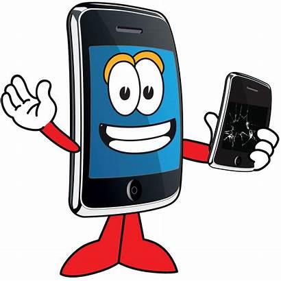 Phone Mobile Clip Cartoon Cell Repair Cellphone