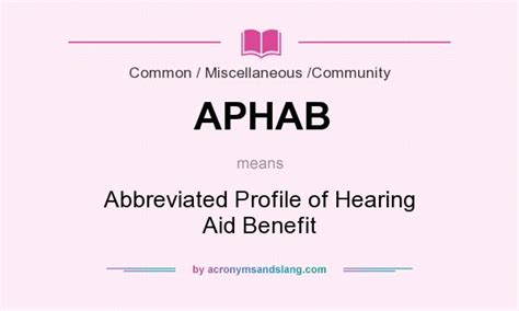 What Does Aphab Mean Definition Stands