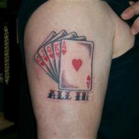big tattoo planet arm cards poker royal flush big