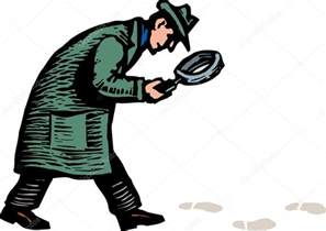 Detective Footprints and Magnifying Glass