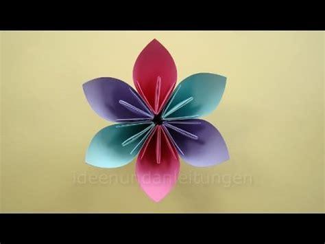 basteln mit papier blumen blumen basteln mit papier basteln mit kindern einfache origami blume falten diy muttertag