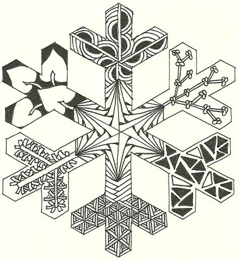 snowflake outline    zentangled zentangle