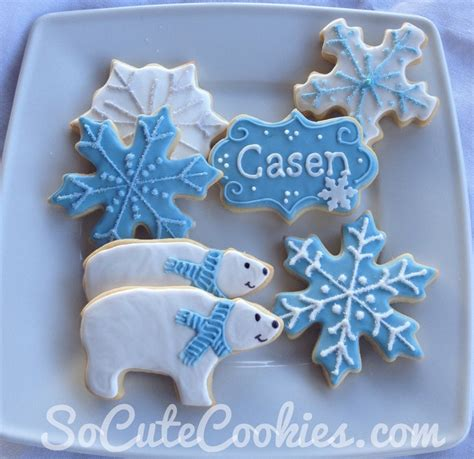 Winter Themed Baby Shower - winter so cookies