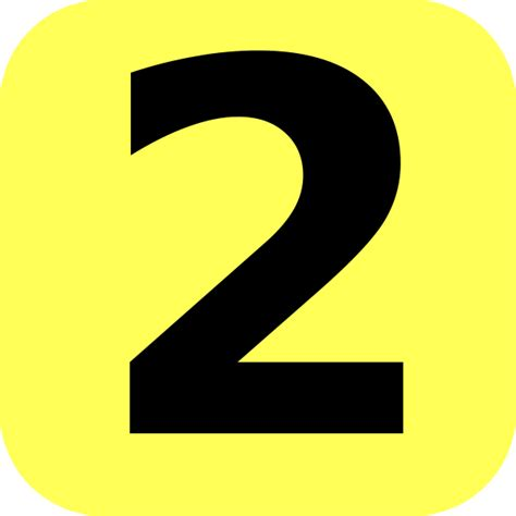 Yellow Rounded Number 2 Clip Art At Clkercom Vector