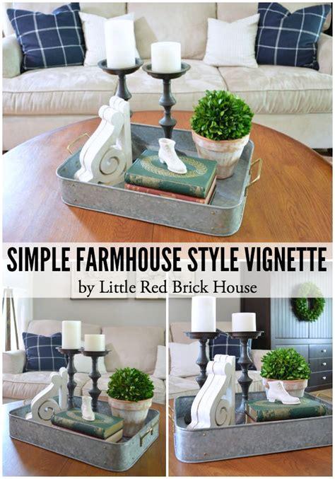 Simple Home Decor Ideas by Simple Farmhouse Style Vignette Brick House