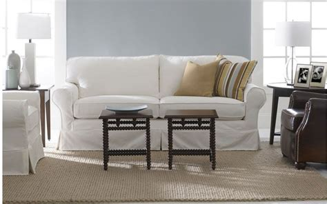 Mitchell Gold Slipcovers by 83 Quot Slipcovered Sofa By Mitchell Gold And Bob