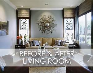 Beach Inspired Modern Living Room Before And After