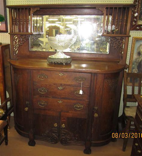 1800s American Oak Sideboardbuffet For Sale Antiques