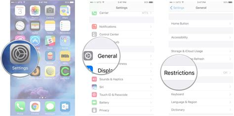 restrictions on iphone how to restrict center with parental controls for