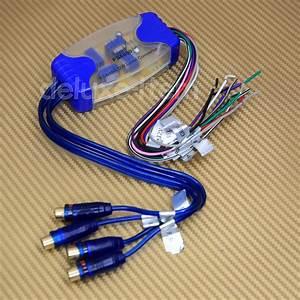 4 Channel Rca Hi Lo Audio Line Level Converter Adapter
