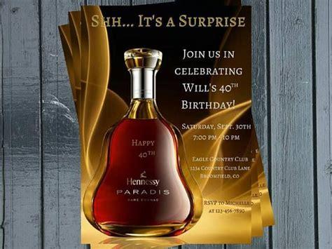 liquor themed adult birthday invitation liquor