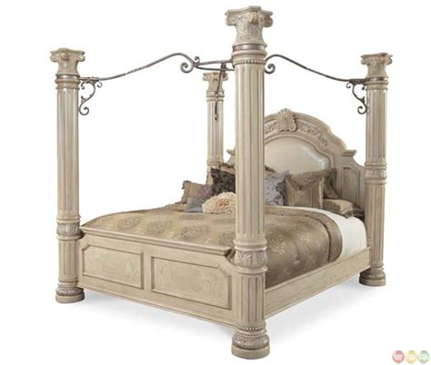 king canopy bed michael amini monte carlo ii california king poster bed with canopy