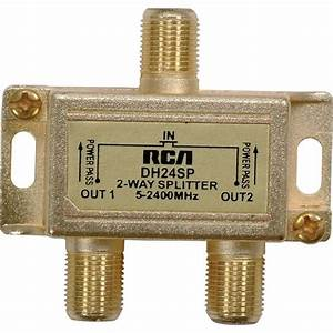 Rca Passive 75 Ohm Rf Coaxial Splitter 1 Input 2 Output