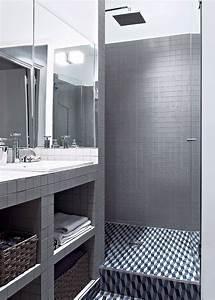 couleur grise pour la salle de bain elegance et With salle de bain mosaique grise
